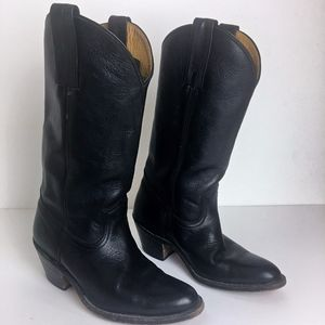 FRYE black leather pull on boots men's 8